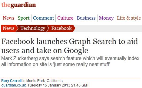 Facebook launches Graph Search